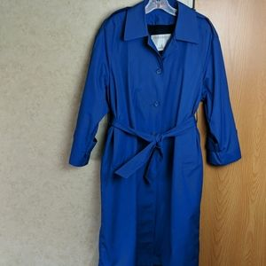 London Fog blue trench coat size 6p